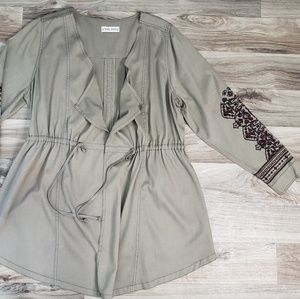Knox Rose Cinch Waist Green Cadrigan Jacket